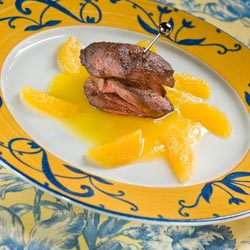 « Piccatas» de canard de Limagne à l'orange