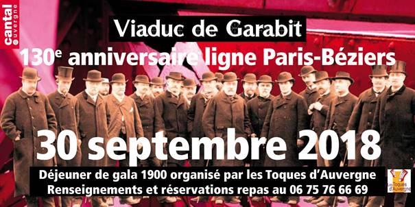 Viaduc de Garabit : 130ème anniversaire de la ligne Paris/Béziers
