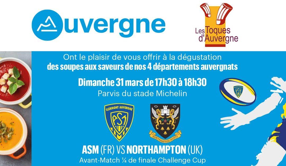 Les Toques d'Auvergne soutiennent l'équipe ASM ce dimanche 31 mars !