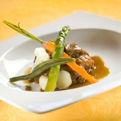 Ragoût de paleron de boeuf aux petits légumes