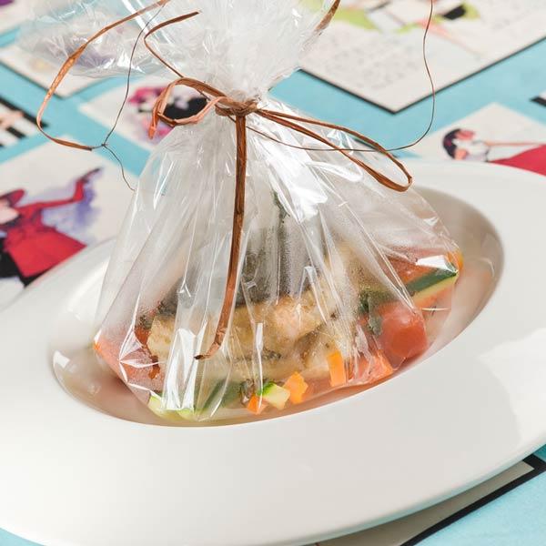 Turbot en transparence, légumes oubliés, coulis de potiron | Matthieu Omont